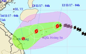 Bão số 13 có khả năng suy yếu thành áp thấp nhiệt đới trước khi tiến vào đất liền