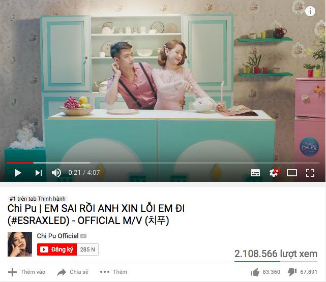 Sau hơn 1 ngày ra mắt, MV thứ 3 của Chi Pu chiếm #1 Trending Youtube nhưng like và dislike vẫn rượt đuổi căng thẳng - Ảnh 1.