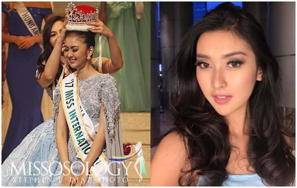 Nhan sắc xinh đẹp của đại diện Indonesia, cô gái đánh bại hơn 70 đối thủ vừa đăng quang Miss International 2017 - Ảnh 8.