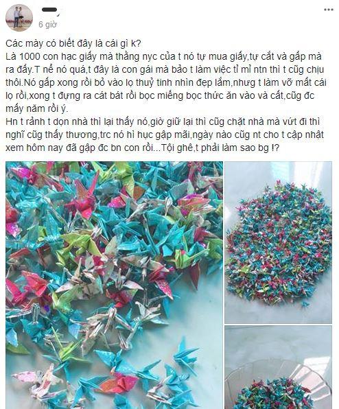 Dọn nhà mà thấy 1000 con hạc giấy của người yêu cũ tặng thì nên làm