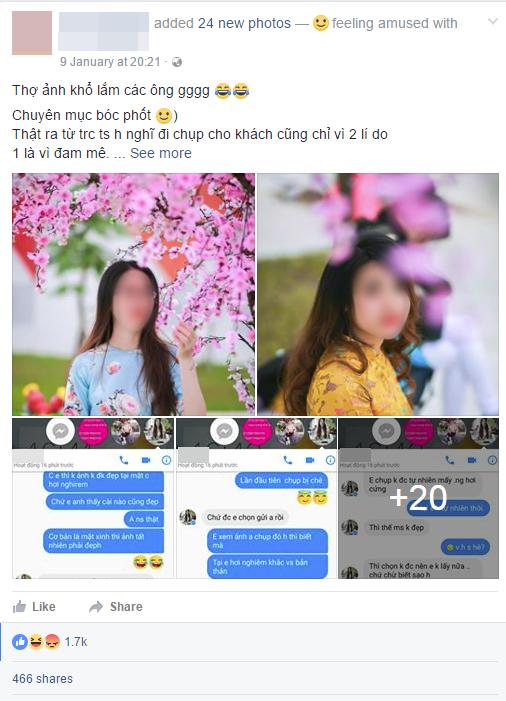 Thuê thợ chụp ảnh Tết trong 3 tiếng, 2 cô gái chỉ đồng ý trả 50.000 đồng vì cho rằng ảnh xấu - Ảnh 1.