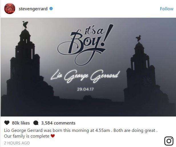 Chúc mừng Gerrard, huyền thoại Liverpool đã có quý tử sau ba công chúa xinh đẹp - Ảnh 1.