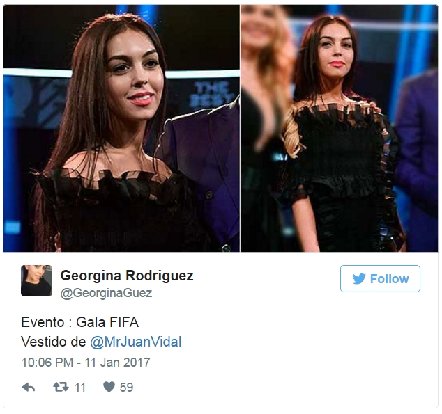 Mở tài khoản Twitter, Georgina Rodriguez khen Ronaldo đầu tiên - Ảnh 3.