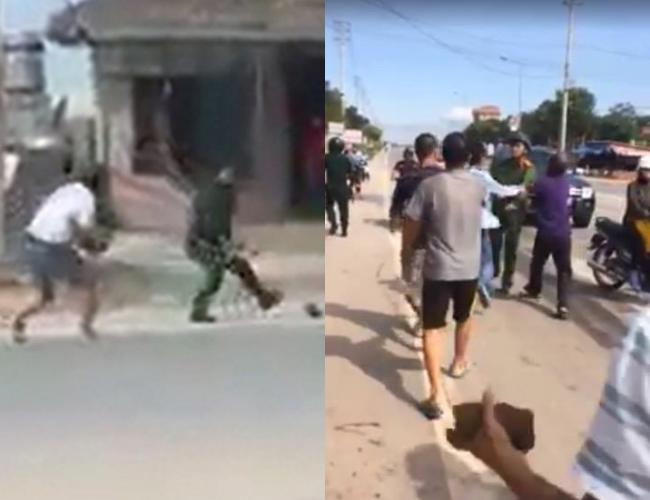 Quảng Ninh: Say rượu, hai thanh niên cầm gạch tấn công cảnh sát - Ảnh 1.