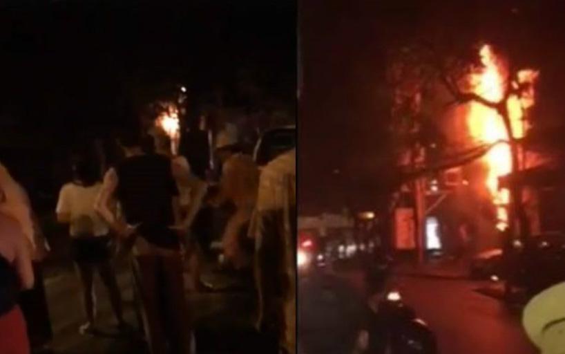Hà Nội: Cháy lớn tại một bốt điện trên đường Nguyễn Chí Thanh, ngọn lửa bốc cao dữ dội