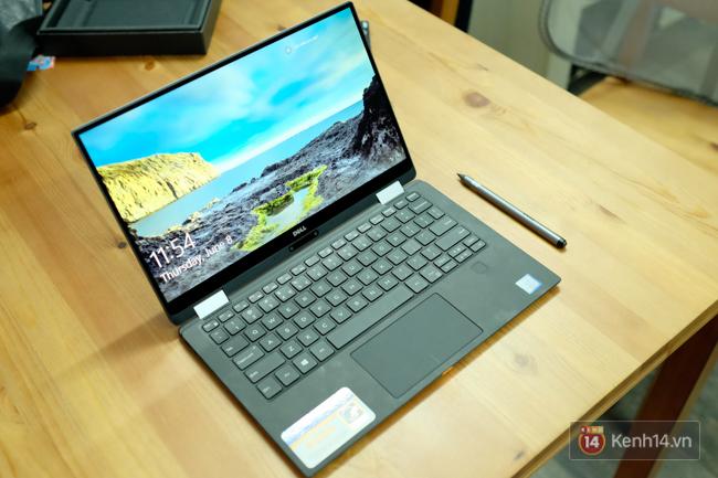 Cận cảnh laptop Dell XPS 13: thiết kế nhỏ gọn, màn hình lật 360 độ, có cả bút viết cảm ứng