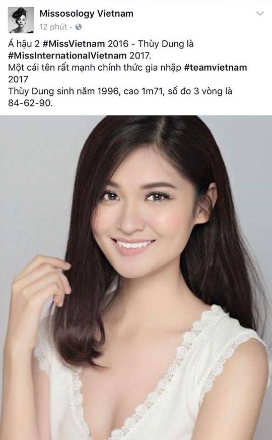Á hậu Thùy Dung sẽ là đại diện tiếp theo của Việt Nam đến với đấu trường nhan sắc Miss International 2017? - Ảnh 1.