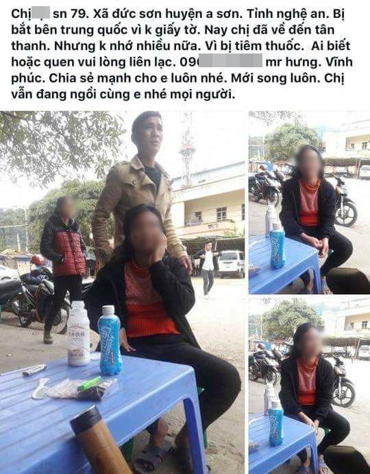 Bị đưa sang Trung Quốc, người phụ nữ được cứu giúp và tìm người thân nhờ Facebook - ảnh 1