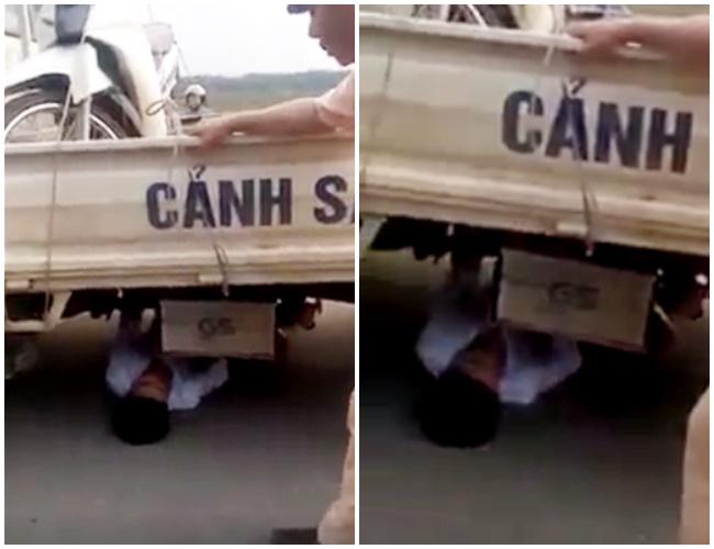 Vĩnh Phúc: Bị lập biên bản vi phạm giao thông, nam thanh niên 21 tuổi chui vào gầm xe CSGT