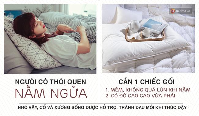 Hướng dẫn chọn gối chuẩn chỉnh theo tư thế thường xuyên khi ngủ của bạn - Ảnh 1.