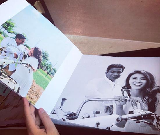 Lộ bộ ảnh cưới lãng mạn của Nguyệt Ánh và ông xã người Ấn Độ - Ảnh 6.