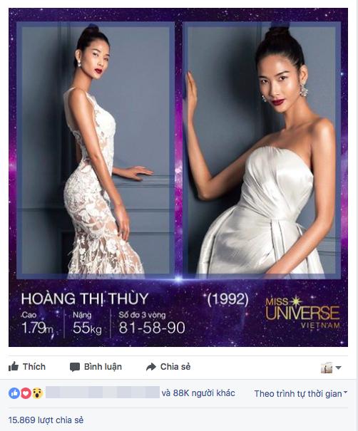 Chưa đầy 24 giờ, Hoàng Thùy vươn lên dẫn đầu bình chọn tại Hoa hậu Hoàn vũ Việt Nam - Ảnh 2.