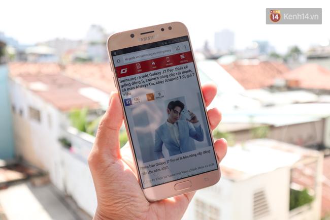 Trên tay nhanh Samsung Galaxy J7 Pro: thiết kế giống S7, camera mạnh mẽ và nhiều tính năng hấp dẫn, có màn hình Always On - Ảnh 3.