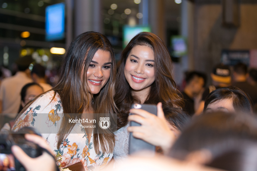 Sao Việt: Hai năm gặp lại, Phạm Hương và bạn thân Hoa hậu người Dominica, ai đẹp hơn?