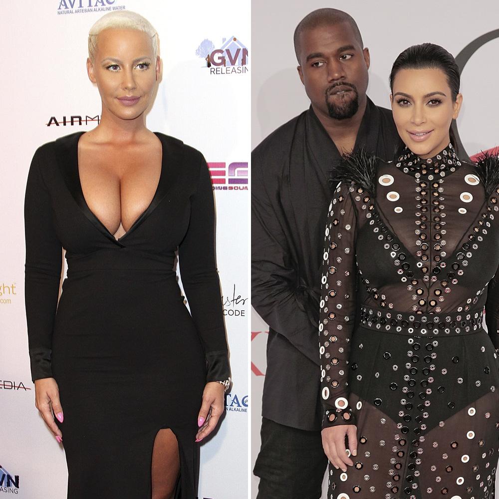 Kanye West  Épique face à son ex Amber Rose et Kim