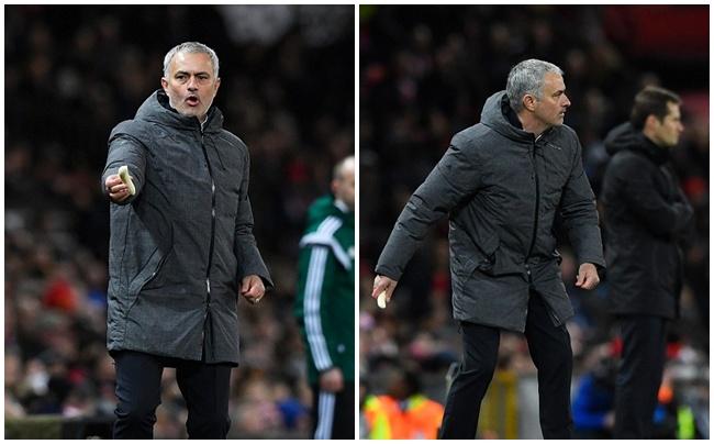 Mourinho bóc chuối cho học trò ăn ngay trên sân - Ảnh 2.