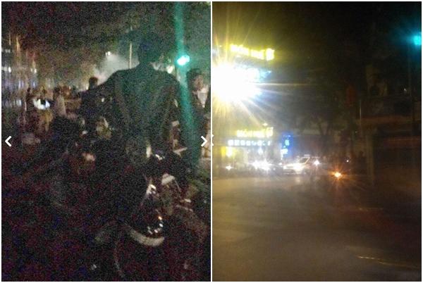 Hà Nội: Nam thanh niên quay đầu xe chạy chốt 141, đâm CSCĐ bất tỉnh - Ảnh 1.
