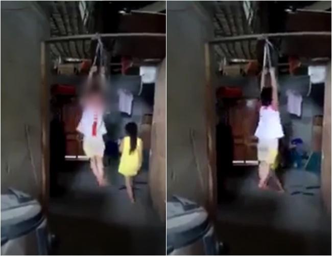 Xác minh clip bé gái bị cột hai tay treo lên xà nhà, giãy giụa khóc thét khiến dư luận phẫn nộ 1