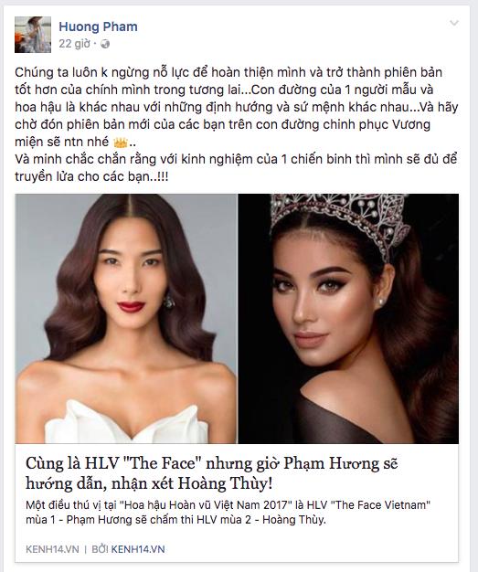 Phạm Hương đáp trả anti-fan thế nào khi bị chê giả tạo, không có gì để thị phạm cho Hoàng Thùy? - Ảnh 1.