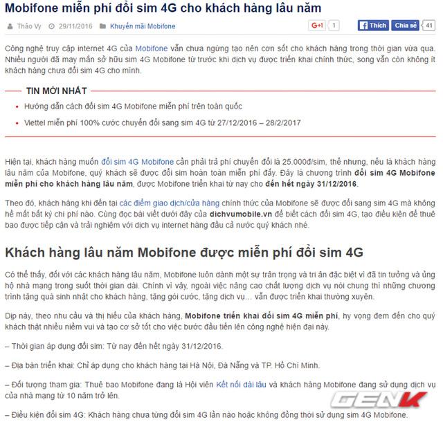 Bạn có biết Mobifone cũng đang miễn phí đổi SIM 4G và đây là cách duy nhất để thực hiện - Ảnh 2.