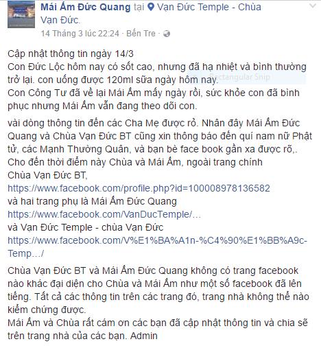 Hình ảnh và tình trạng hiện tại của bé bị não úng thủy Phạm Đức Lộc sau khi trở về từ Singapore - ảnh 1