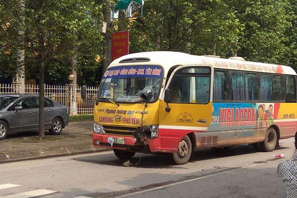 Xe buýt lấn làn tông chết cụ ông ở Thái Nguyên - Ảnh 2.