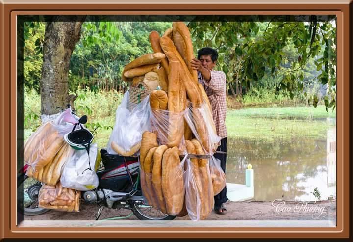 Đời sống: Xôn xao hình ảnh những chiếc bánh mì khổng lồ thu hút người dân ở An Giang