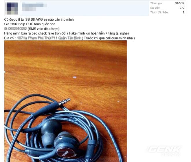 Hãy cẩn thận: Đã có tai nghe AKG Galaxy S8 fake, giá chưa tới 300.000 VNĐ và đây là cách nhận biết - Ảnh 2.