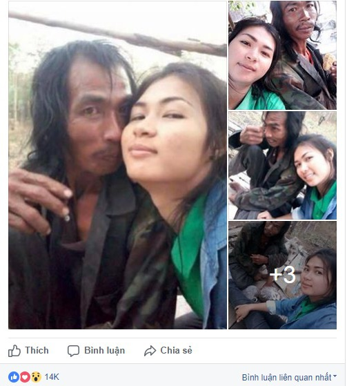 Đăng ảnh chụp cùng người cha mắc bệnh tâm thần, cô gái xinh đẹp châm ngòi cho cuộc khẩu chiến trên mạng xã hội - Ảnh 1.