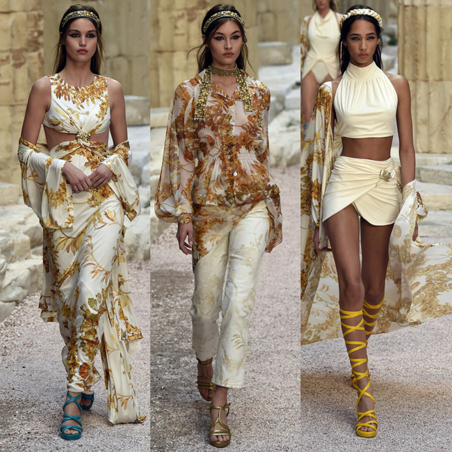 Hết đưa người xem lên vũ trụ, Chanel lại biến runway thành Hy Lạp cổ đại - Ảnh 13.