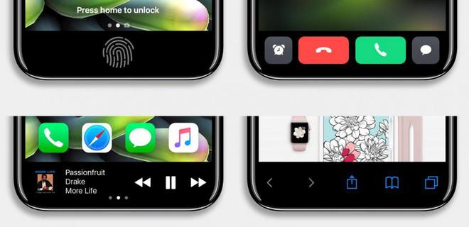 iPhone 8 lộ ảnh không viền màn hình đẹp chất ngất, cảm biến vân tay đặt ở nơi không tưởng - Ảnh 3.