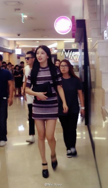 Mặc kệ ảnh kém chất lượng, Suzy vẫn khiến fan sốc vì chân thon, dáng đẹp - ảnh 5