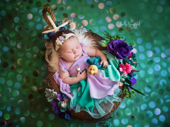 Bộ ảnh đẹp lung linh của các bé sơ sinh vào vai công chúa Disney - Ảnh 7.