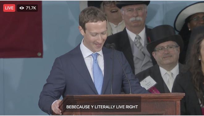 Mark Zuckerberg biểu diễn tính năng chuyển giọng nói thành văn bản để livestream diễn văn Tốt nghiệp, kết quả thì ôi thôi thảm họa không tin được - Ảnh 5.