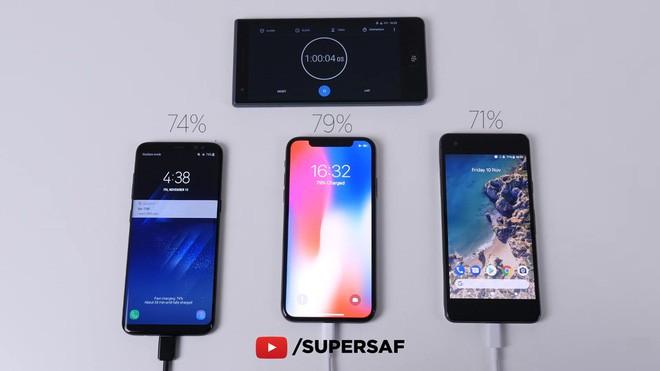 Samsung Galaxy S8 đánh bại Google Pixel 2 và iPhone X trong cuộc đọ sức về tốc độ sạc nhanh - Ảnh 5.