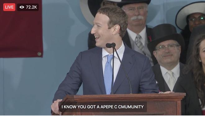 Mark Zuckerberg biểu diễn tính năng chuyển giọng nói thành văn bản để livestream diễn văn Tốt nghiệp, kết quả thì ôi thôi thảm họa không tin được - Ảnh 6.