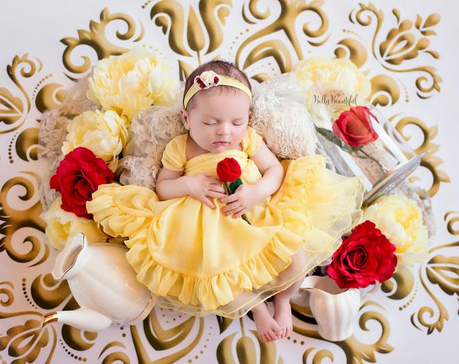 Bộ ảnh đẹp lung linh của các bé sơ sinh vào vai công chúa Disney - Ảnh 11.