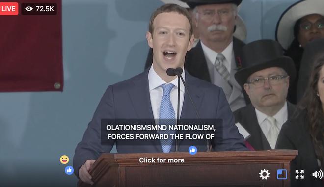 Mark Zuckerberg biểu diễn tính năng chuyển giọng nói thành văn bản để livestream diễn văn Tốt nghiệp, kết quả thì ôi thôi thảm họa không tin được - Ảnh 7.