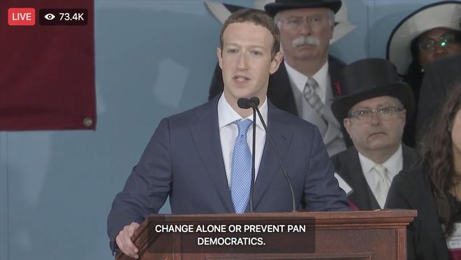 Mark Zuckerberg biểu diễn tính năng chuyển giọng nói thành văn bản để livestream diễn văn Tốt nghiệp, kết quả thì ôi thôi thảm họa không tin được - Ảnh 8.