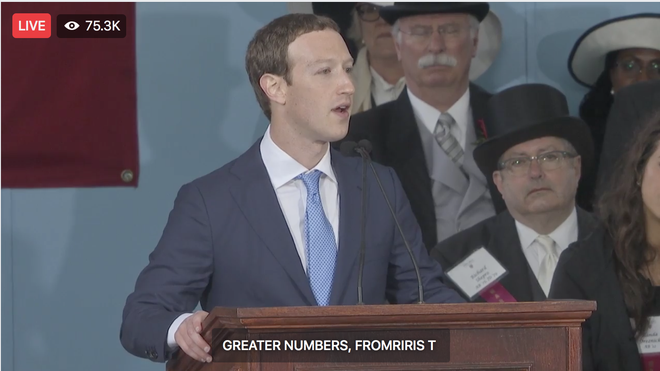Mark Zuckerberg biểu diễn tính năng chuyển giọng nói thành văn bản để livestream diễn văn Tốt nghiệp, kết quả thì ôi thôi thảm họa không tin được - Ảnh 9.
