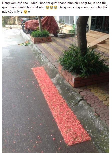 Đến cả quét hoa rơi trên đường bây giờ cũng phải có nghệ thuật như thế này đây! 1