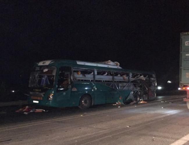 Xe khách giường nằm Ka Long phát nổ kinh hoàng trên quốc lộ - Ảnh 1.