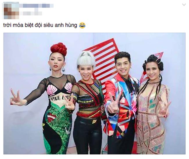 Netizen ví thời trang của bộ tứ HLV The Voice Việt 2017 như 2NE1 và... Võ Lâm Truyền Kỳ - Ảnh 5.