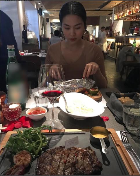 Vợ chồng Tăng Thanh Hà mừng Valentine bằng bữa tối ấm áp  - Ảnh 2.