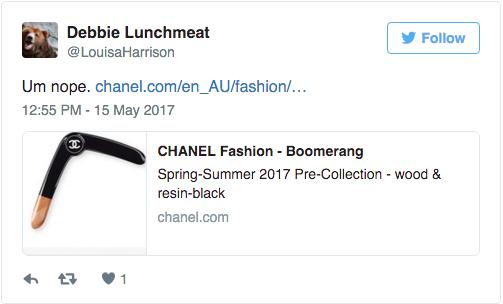Chanel làm ra chiếc boomerang giá 32 triệu đồng và nó đang khiến netizen bối rối vô cùng - Ảnh 5.