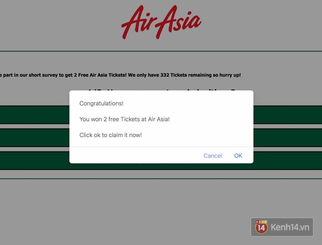 Facebook đang rộ lên trò lừa đảo tặng vé máy bay, bạn phải cẩn thận - Ảnh 3.