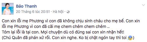 Nghe lời Người Phán Xử, bà Phương và Vân công khai xin lỗi nhau trên Facebook - Ảnh 3.