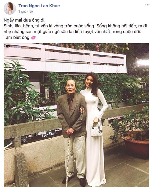 Á hậu Hoàng My và loạt sao Việt gửi lời chia buồn khi hay tin ông của Lan Khuê qua đời - Ảnh 1.