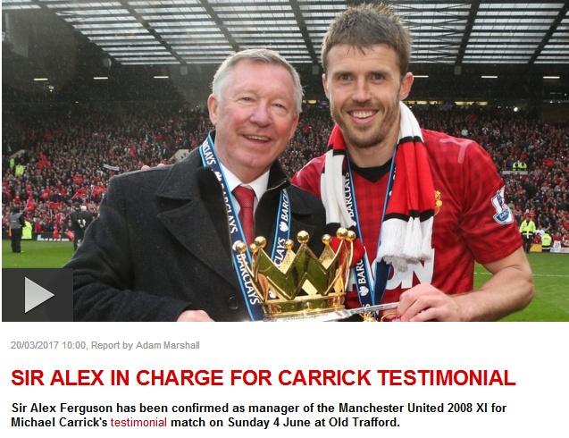 Man Utd xác nhận Sir Alex trở lại cầm quân trận vinh danh Carrick - ảnh 1