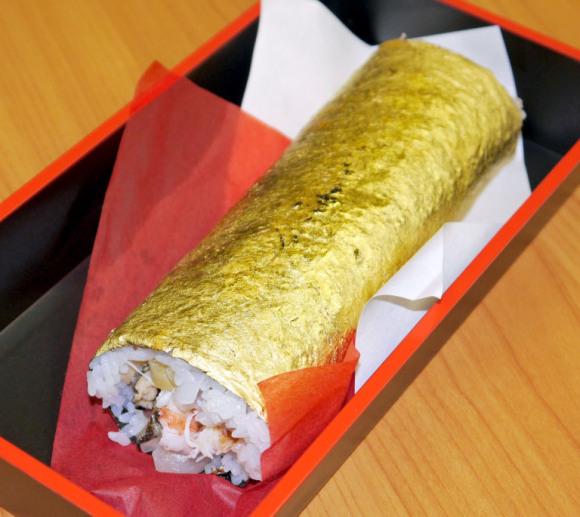 Sushi dát vàng sang mồm dành riêng cho hội thừa tiền - Ảnh 3.